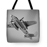 North American B-25 Mitchell Bw Tote Bag