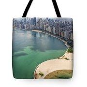 North Avenue Beach Chicago Aerial Tote Bag by Adam Romanowicz