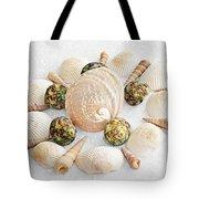 North Carolina Circle Of Sea Shells Tote Bag