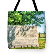 North Carolina Memorial Gettysburg Battleground Tote Bag