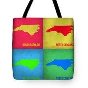 North Carolina Pop Art Map 1 Tote Bag