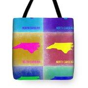 North Carolina Pop Art Map 2 Tote Bag