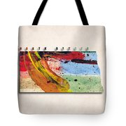 North Dakota Map Art - Painted Map Of North Dakota Tote Bag