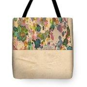 North Dakota Map Vintage Watercolor Tote Bag