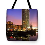North Dock In Canary Wharf. Tote Bag