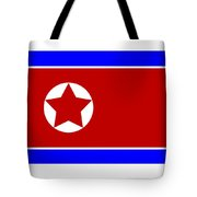 North Korea Flag Tote Bag