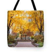 North Plaza Fountain Tote Bag