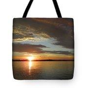 North River Sunset Tote Bag