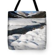 North Saskatchewan River In Winter Tote Bag