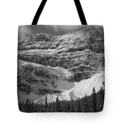 1m3536-bw-north Side Crowfoot Mountain  Tote Bag