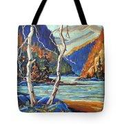 North West Lake By Prankearts Tote Bag