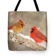 Northern Cardinals Tote Bag