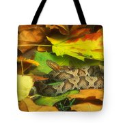 Northern Copperhead Camouflaged Tote Bag