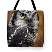 Northern Hawk Owl Tote Bag