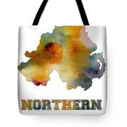 Northern Ireland Watercolor  Map Tote Bag