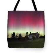 Northern Lights Over Foster Covered  Bridge Cabot Vt Tote Bag