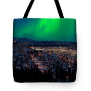 Northern Lights Over Whitehorse Tote Bag