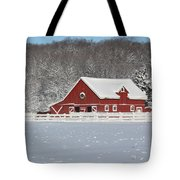 Northern Michigan Country Winter Tote Bag