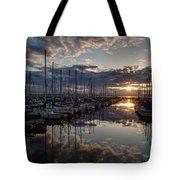Northwest Sunset Marina Tote Bag