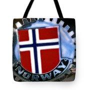 Norway Car Emblem Tote Bag
