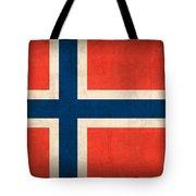 Norway Flag Distressed Vintage Finish Tote Bag