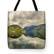 Norway Serenity In Panorama Tote Bag