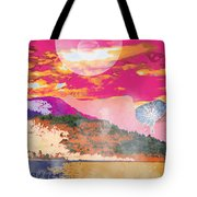 Space Landscape Tote Bag
