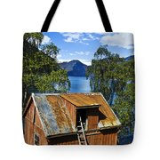 Norwegian Barn House Tote Bag