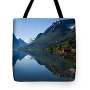 Norwegian Cottages Tote Bag