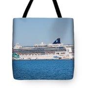 Norwegian Jade Cruise Ship Corfu Tote Bag