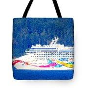 Norwegian Jewel Cruise Ship Tote Bag