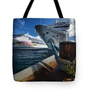 Norwegian Sky Carnival Sensation And Royal Caribbean Majesty Tote Bag