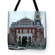Norwich City Hall In Winter Tote Bag