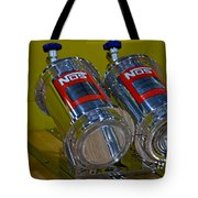 Nos Bottles In A Racing Truck Trunk Tote Bag
