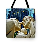 Nose To Nose In Montreal Tote Bag