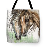 Nose To Nose Watercolor Painting Tote Bag