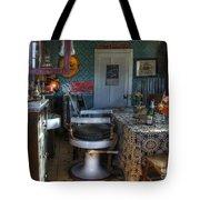 Nostalgia Barber Shop Tote Bag