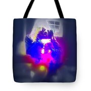 A Girl And Her Dog And Not At All A Munch Vampire  Tote Bag