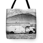 Not In Service Bw Palm Springs Tote Bag