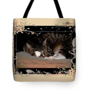 Not Tonight Dear... - Featured In Comfortable Art Group Tote Bag