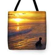Not Yet - Sunset Art By Sharon Cummings Tote Bag