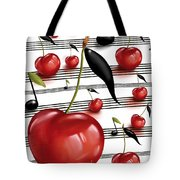 Notes Of Fruits Tote Bag