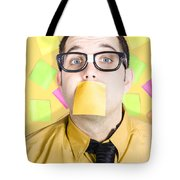 Notice Board Businessman With Crazy To-do List Tote Bag