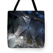Notre Dame Ceiling In Blues Tote Bag