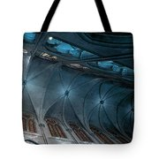 Notre Dame Ceiling North In Teal Tote Bag