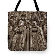 Notre Dame Facade Detail Tote Bag