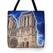 Notre Dame Fractal Tote Bag