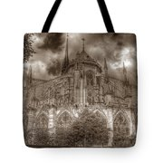 Notre Dame From East Garden Tote Bag