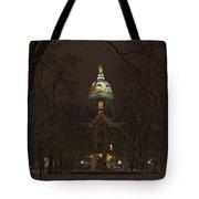 Notre Dame Golden Dome Snow Tote Bag