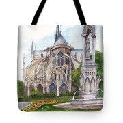 Notre Dame Paris In Spring Tote Bag